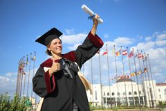 Graduate of the International University Royalty Free Stock Photography