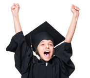 Graduate little girl student Royalty Free Stock Images