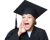 Graduate little girl student Royalty Free Stock Photo