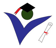 Graduate logo Royalty Free Stock Photo
