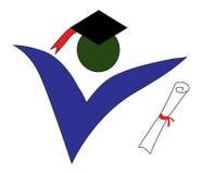 Graduate logo. On a white background Royalty Free Stock Photo