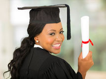 Graduate looking back Royalty Free Stock Images