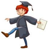 A graduate. A male graduate on a white background Stock Image
