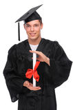 Graduate man Stock Photography