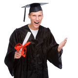Graduate man Royalty Free Stock Photos