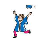 Graduate man happy Royalty Free Stock Image