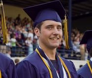 Graduate participating in graduation ceremony Royalty Free Stock Photos