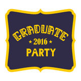 Graduate Party 2016 Vector lettering Stock Image