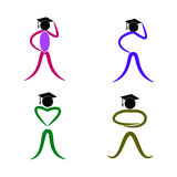 Graduate people Royalty Free Stock Images