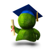 Graduate person with diplom Royalty Free Stock Photo