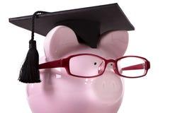 Graduate Piggy Bank student graduation Royalty Free Stock Photography
