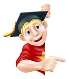 Graduate pointing Stock Images