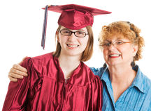 Graduate with Proud Mother Royalty Free Stock Photo