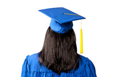 Graduate Seen From The Back Royalty Free Stock Photography