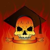 Graduate skull Stock Photography
