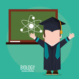 Graduate student biology board class Stock Images