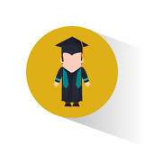 Graduate student cap and gown Royalty Free Stock Photo