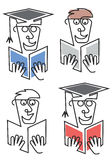 Graduate student with diploma Stock Image