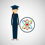 Graduate student girl physics Stock Images