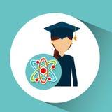 Graduate student girl physics Stock Photos