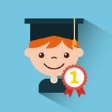 Graduate student happy Stock Image