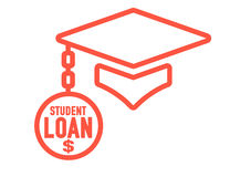 Graduate Student Loan Icon - Student Loan Graphics for Education Financial Aid or Assistance, Government Loans, and Debt. Graduate Student Loan Icon - Student Stock Photos