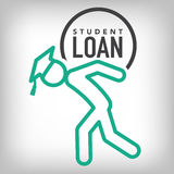 Graduate Student Loan Icon - Student Loan Graphics for Education Financial Aid or Assistance, Government Loans, and Debt. Graduate Student Loan Icon - Student Stock Photography