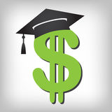 Graduate Student Loan Icon - Student Loan Graphics for Education Financial Aid or Assistance, Government Loans, and Debt. S Royalty Free Stock Photo