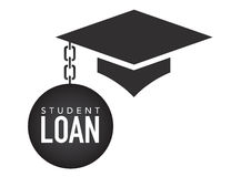 Graduate Student Loan Icons - Student Loan Graphics for Education Financial Aid or Assistance, Government Loans, and Debt Royalty Free Stock Photos