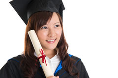 Graduate student looking away Stock Photography