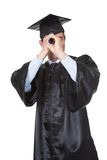 Graduate student looking into the future Stock Images