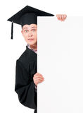 Graduate student with placard board Stock Images