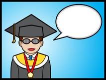 Graduate student talking Royalty Free Stock Photos