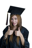 Graduate student with thumbs up sign Stock Image