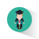 Graduate student tie cap standing Royalty Free Stock Photo
