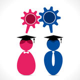 Graduate student vector Stock Photos