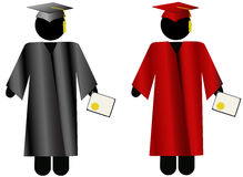 The Graduate-Symbol People Graduation Cap & Gown Stock Images