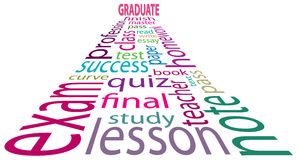 Graduate tag cloud Royalty Free Stock Images