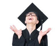 Graduate teen boy student Stock Images
