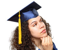 Graduate in thought Stock Image