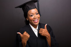 Graduate thumbs up Royalty Free Stock Photography