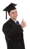 Graduate with a thumbs up sign Royalty Free Stock Photography