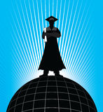 Graduate - On Top of the World Stock Photo