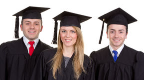 Graduate trio Stock Photos