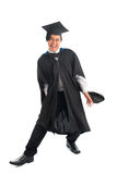 Graduate university student in excitement Royalty Free Stock Images