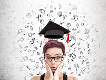 Graduate university student royalty free stock images