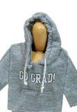 Graduate wearing grunge hoodie Stock Images