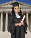Graduate on White Stock Photography