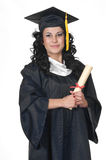 Graduate on White Royalty Free Stock Photos