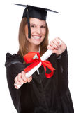 Graduate woman Stock Photography